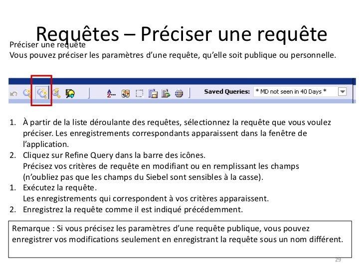 Requêtes – Préciser une requêtePréciser une requêteVous pouvez préciser les paramètres d'une requête, qu'elle soit publiqu...