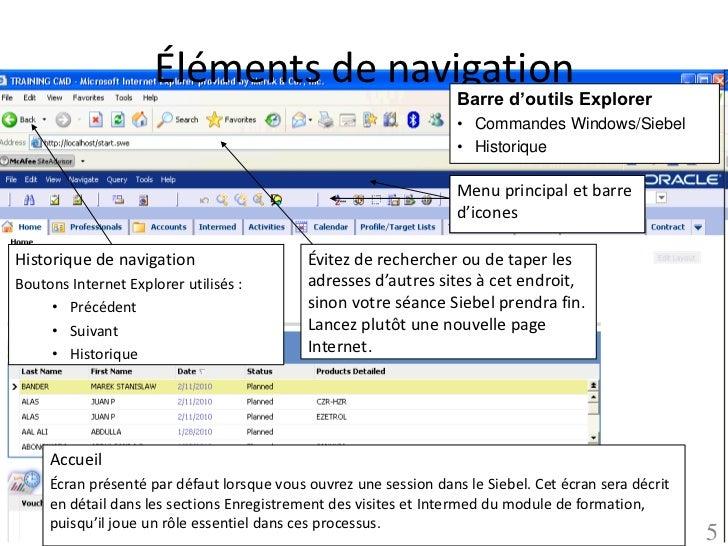 Éléments de navigation                                                                   Barre d'outils Explorer          ...