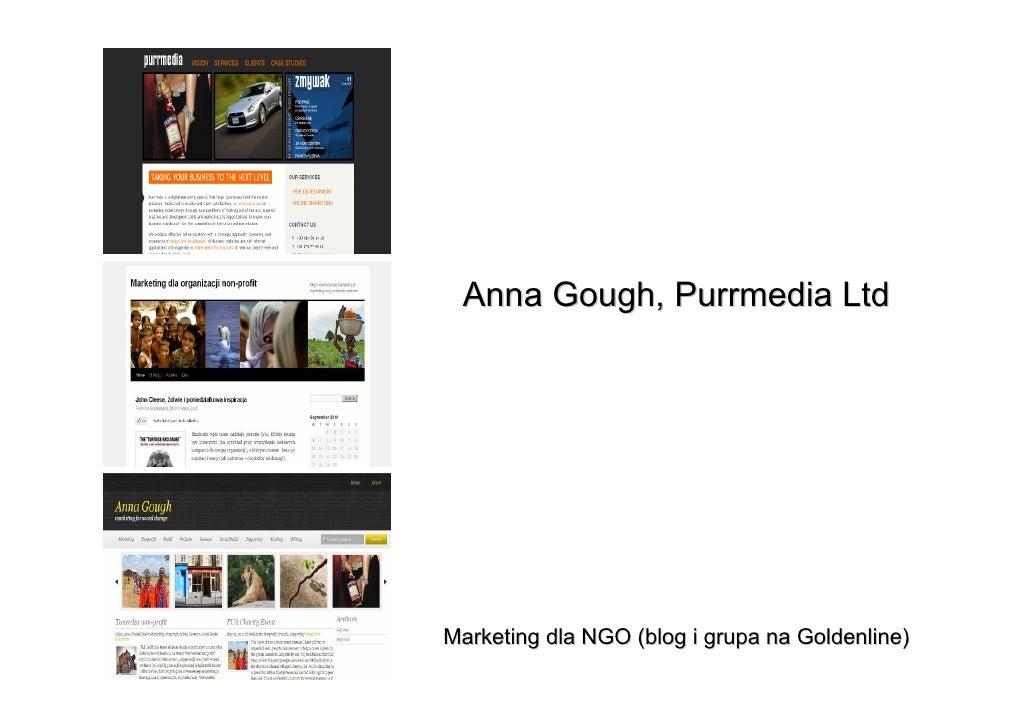 Anna Gough, Purrmedia LtdMarketing dla NGO (blog i grupa na Goldenline)