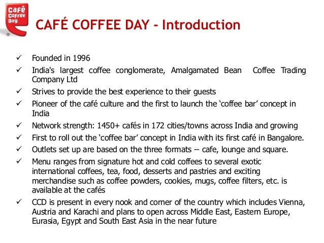 cafe coffee day essay Qwiky and cafe coffee day do café coffee day had lost ground to barista coffee and qwiky because it failed to take essay writing service uk essay.