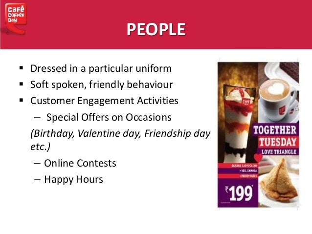 marketing mix in cafe coffee day Download pdf copy of management case study on cafe coffee day - brand strategy in india this case study discusses the brand strategy of cafe coffee day (ccd), the.