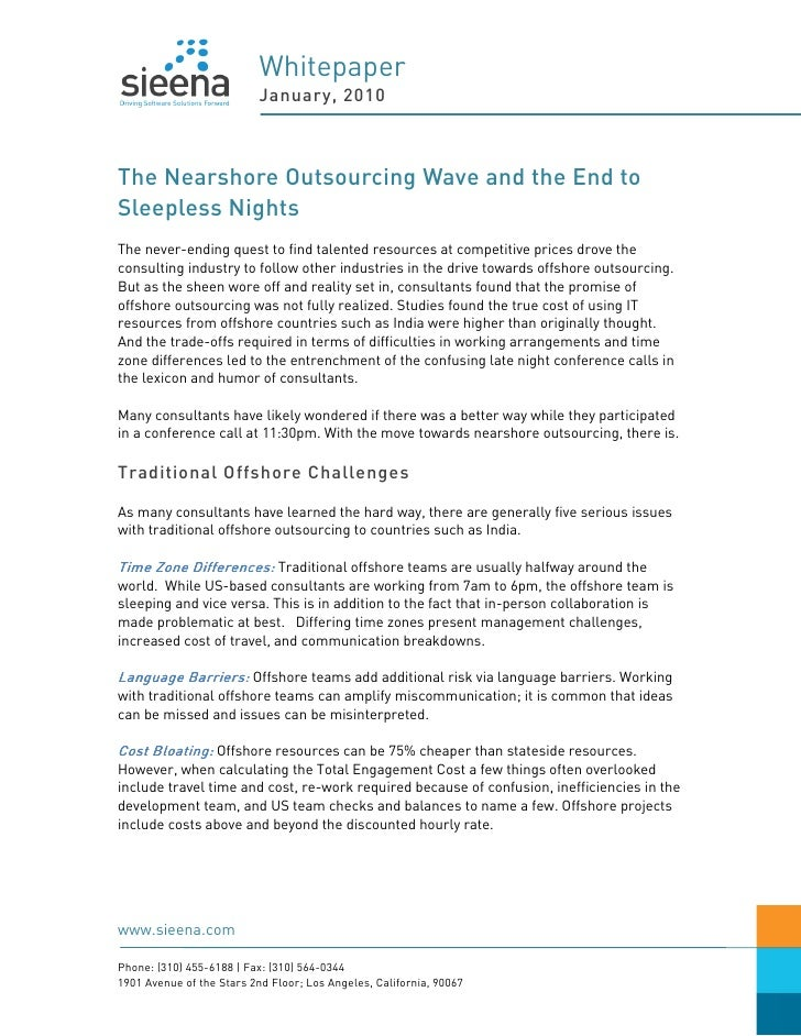Whitepaper - The Nearshore Outsourcing Wave and the End to Sleepless Nights