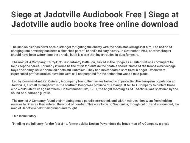 Siege at Jadotville Audiobook Free | Siege at Jadotville