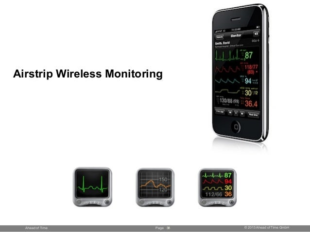 Page © 2013 Ahead of Time GmbHAhead of Time Airstrip Wireless Monitoring 38
