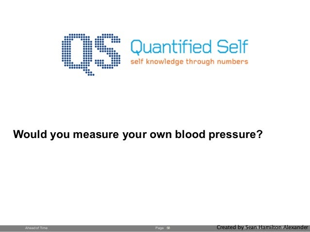 Page © 2013 Ahead of Time GmbHAhead of Time Would you measure your own blood pressure? 58 Created by Sean Hamilton Alexand...
