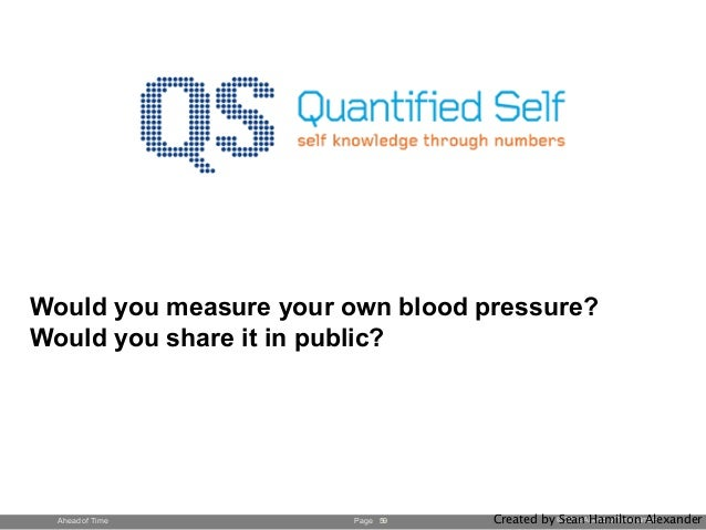Page © 2013 Ahead of Time GmbHAhead of Time Would you measure your own blood pressure? Would you share it in public? 59 Cr...