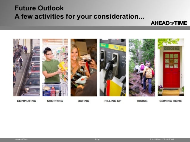 Page © 2013 Ahead of Time GmbHAhead of Time Future Outlook A few activities for your consideration...