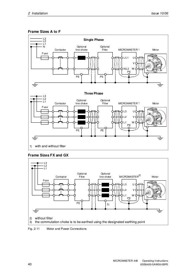 Siemens Micromaster 440 Wiring Diagram  Best Wiring Diagram