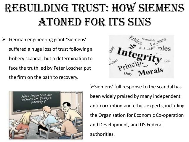 siemens bribery and manager Contrary to some expectations, siemens didn't implode at the annual shareholders' meeting last week but a new audit report shows just how widespread the bribery really was and it promises to get.