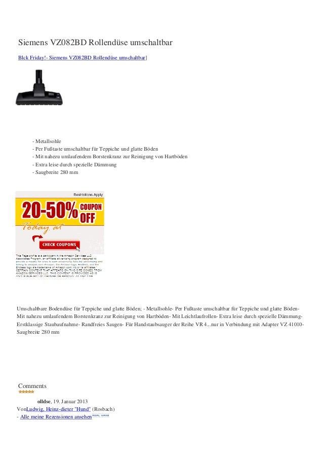 Siemens VZ082BD Rollendüse umschaltbarBlck Friday!- Siemens VZ082BD Rollendüse umschaltbar]      - Metallsohle      - Per ...