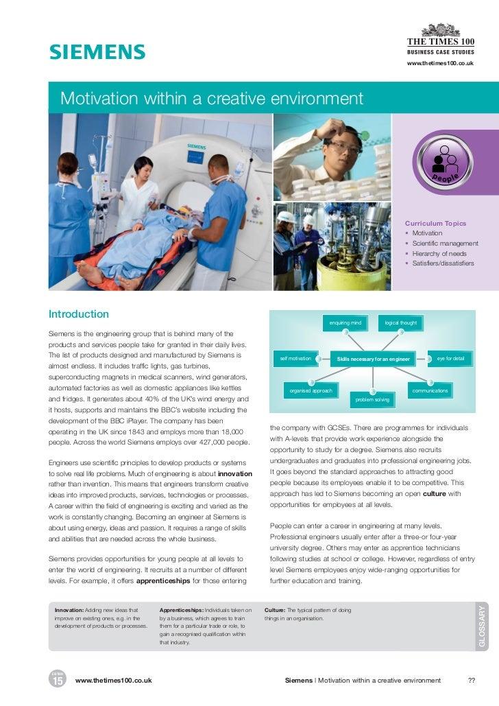 Siemens case essay