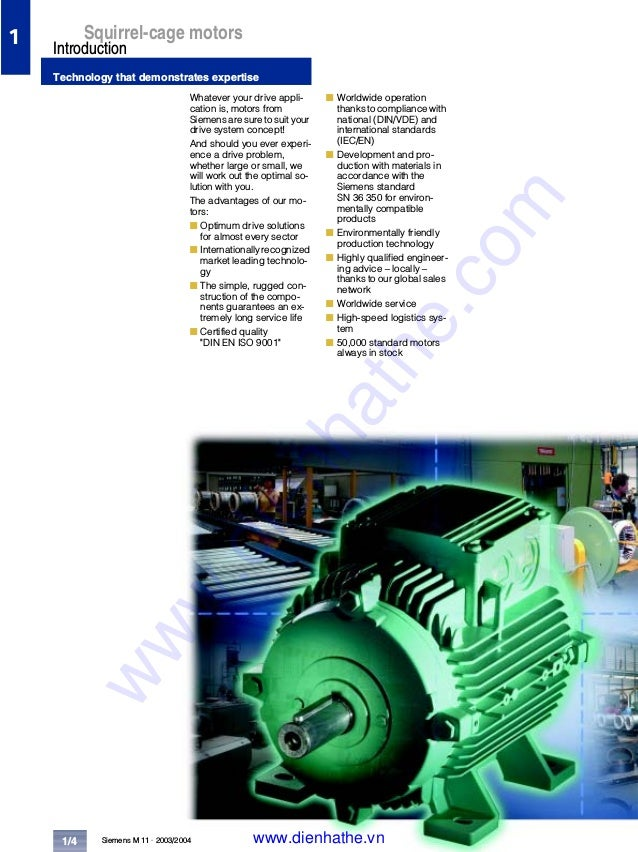 Siemens catalog tong hop low voltage motor