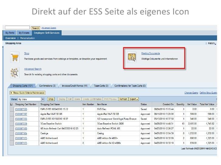Direkt auf der ESS Seite als eigenes Icon<br />