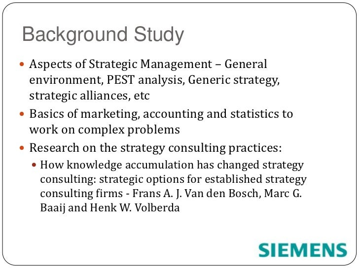 pest analysis of siemens Siemens brand is studied in terms of its swot analysis, competitors segmentation, targeting and positioning (stp) have also been covered along with usp and tagline.