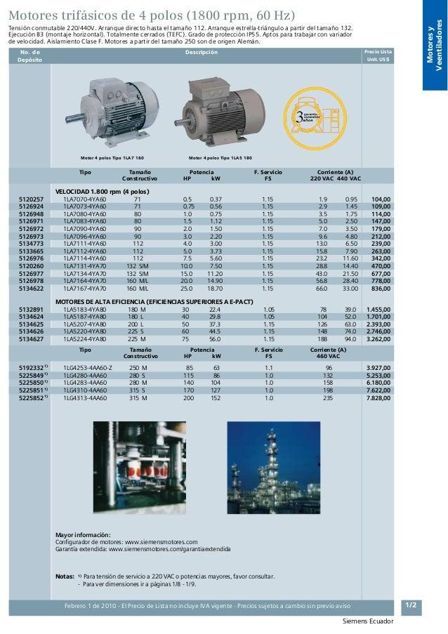 Siemens Productos El 233 Ctricos Industriales