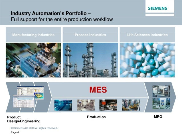 Siemens And Mes Manufacturing Execution System