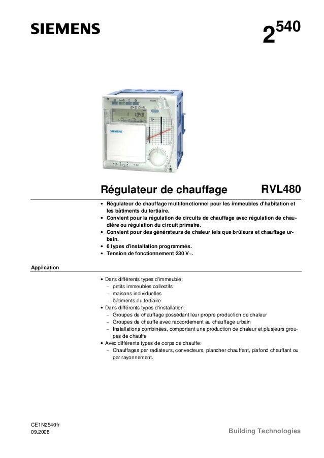 2  Régulateur de chauffage  540  RVL480  • Régulateur de chauffage multifonctionnel pour les immeubles d'habitation et les...
