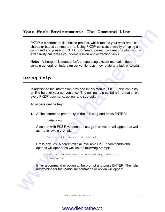 pkzip command line download