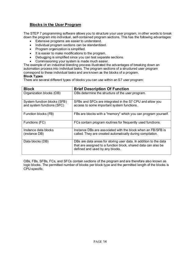 siemens plc programmer resume