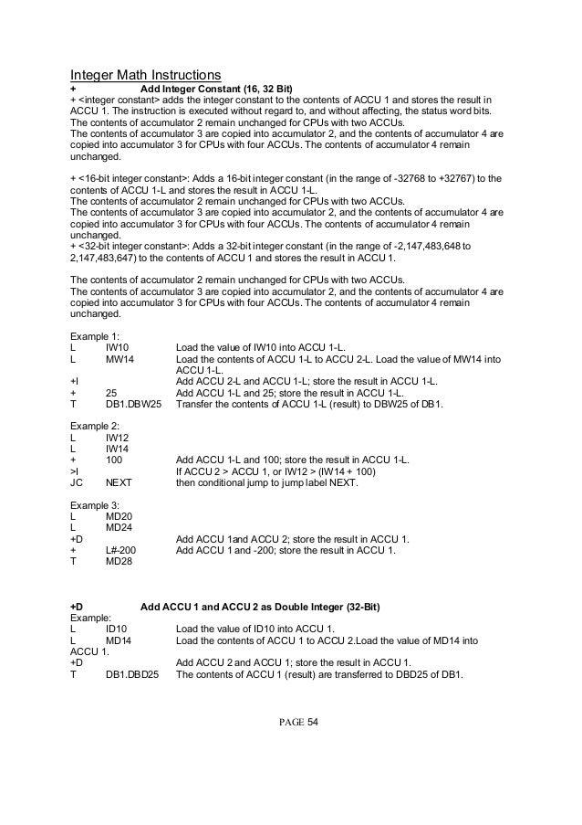 Siemens S7 300 Programming