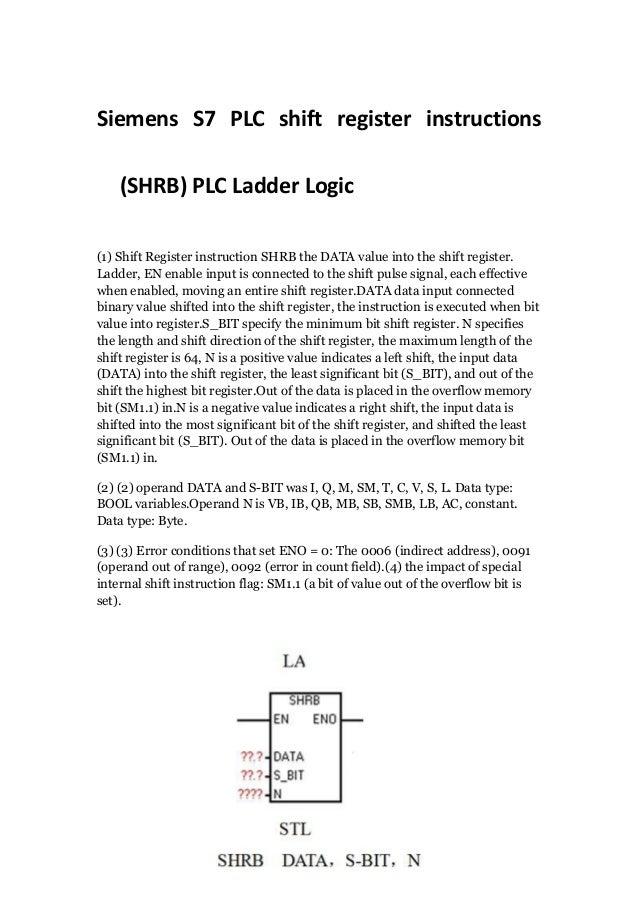 Siemens s7 plc shift register instructions shrb plc ladder logic siemens s7 plc shift register instructions shrb plc ladder logic 1 shift ccuart Choice Image