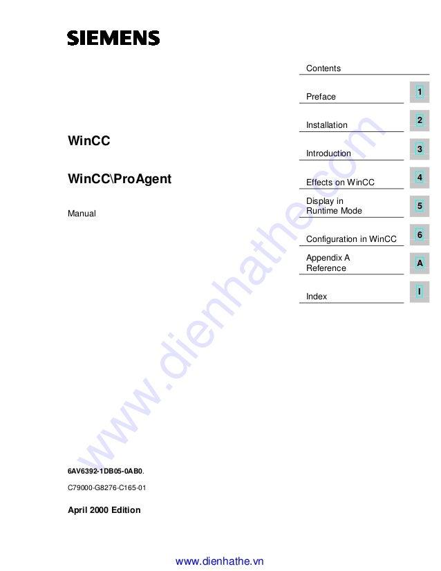 Siemens win cc manual wincc-proagent