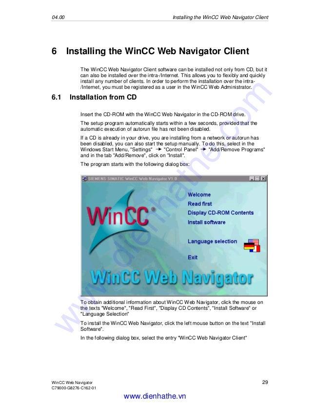 Wincc web navigator connection problem
