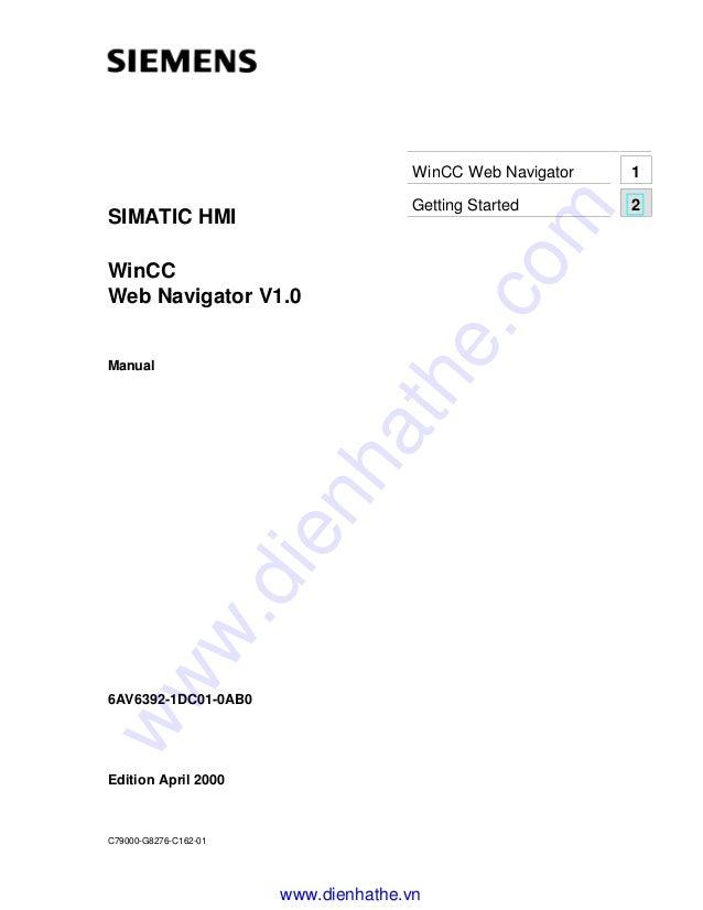 Siemens win cc manual win cc web navigator v1.0