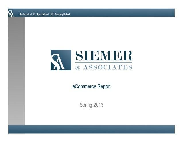 Embedded Specialized AccomplishedSpring 2013eCommerce Report