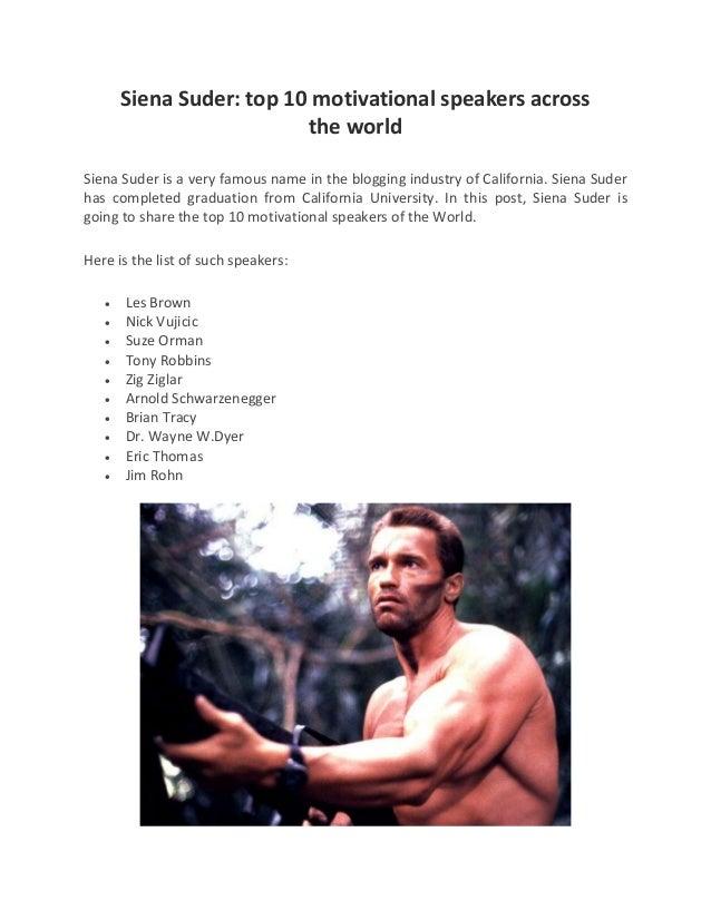 Siena Suder Top 10 Motivational Speakers Across The World