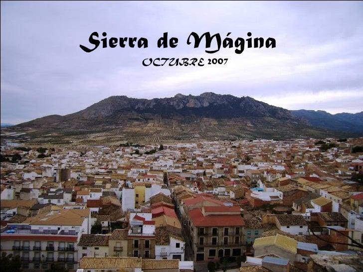 Sierra de Mágina OCTUBRE 2007