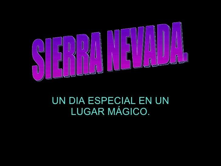 UN DIA ESPECIAL EN UN LUGAR MÁGICO. SIERRA NEVADA.