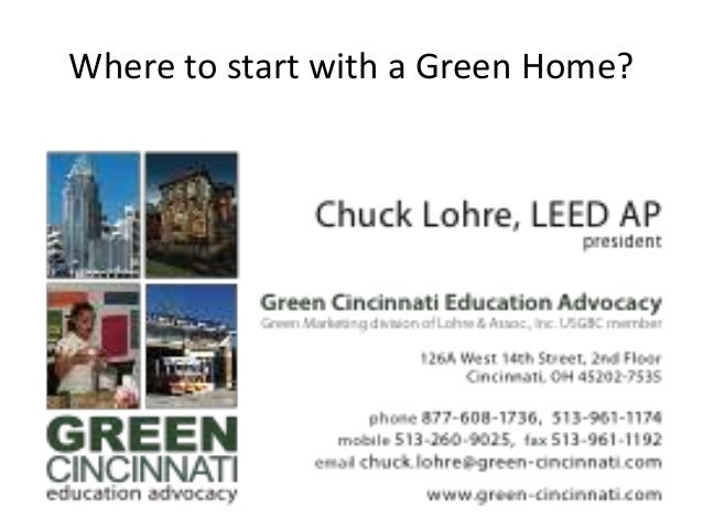 Where to start with a Green Home?