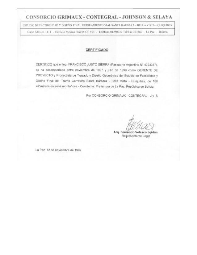 Sierra francisco justo certificados trabajo cv 2016