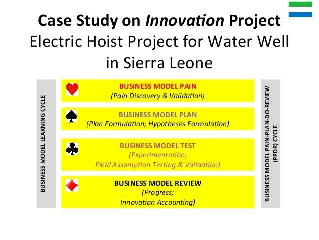 CaseStudyonInnova,onProject ElectricHoistProjectforWaterWell inSierraLeone BUSINESSMODELPAIN (PainDiscov...