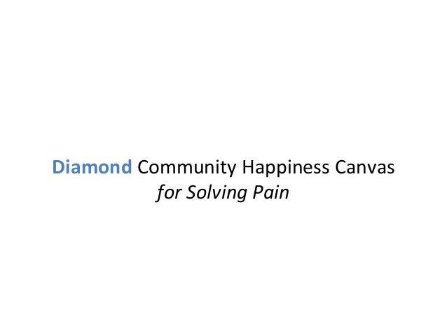 DiamondCommunityHappinessCanvas forSolvingPain