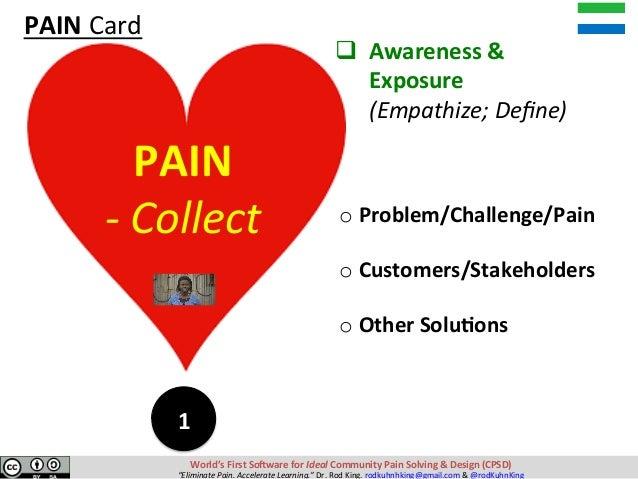 qAwareness& Exposure (Empathize;Define) oProblem/Challenge/Pain  oCustomers/Stakeholders  o...