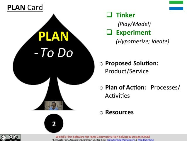 qTinker (Play/Model) qExperiment (Hypothesize;Ideate) oProposedSolu?on: Product/Service  o...