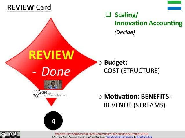 oBudget: COST(STRUCTURE) oMo?va?on:BENEFITS- REVENUE(STREAMS) 4 World'sFirstSo-waref...