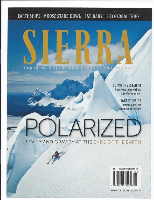 Sierra magazine faucet face 2013 cover