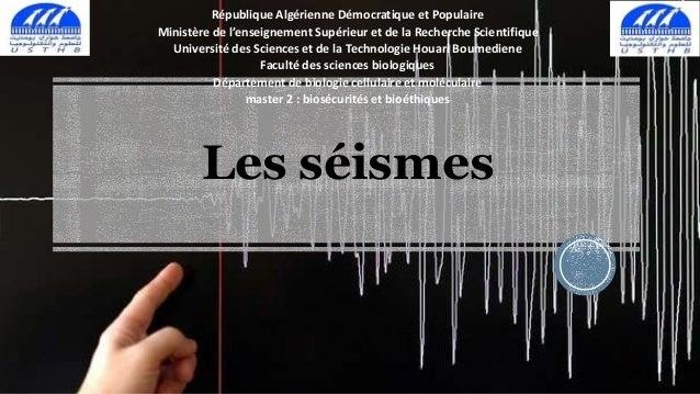 République Algérienne Démocratique et Populaire  Ministère de l'enseignement Supérieur et de la Recherche Scientifique  Un...