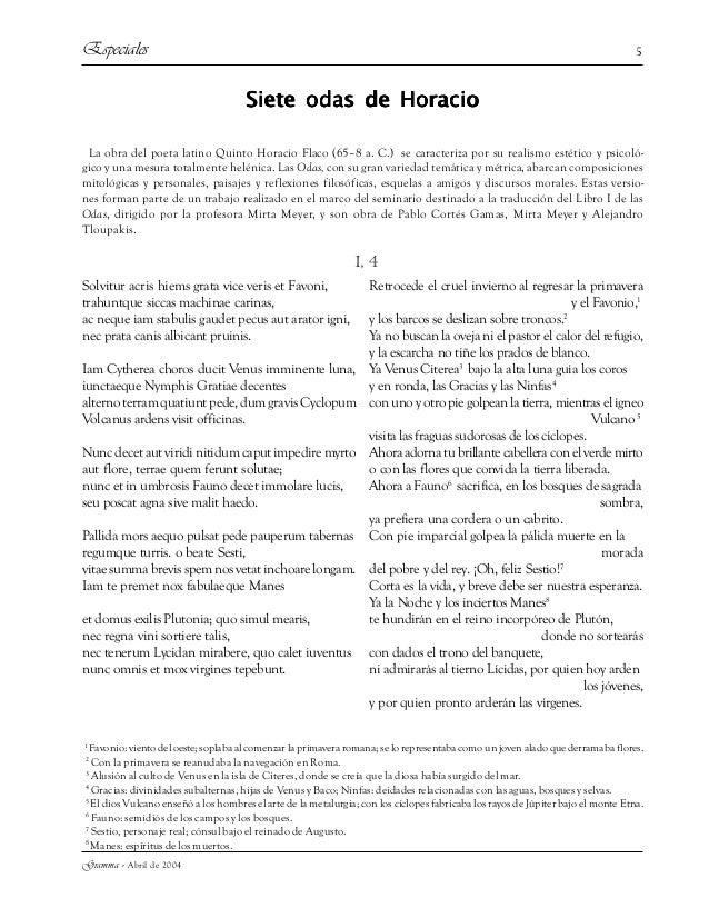 Gramma - Abril de 2004 5 Siete odas de HoracioSiete odas de HoracioSiete odas de HoracioSiete odas de HoracioSiete odas de...