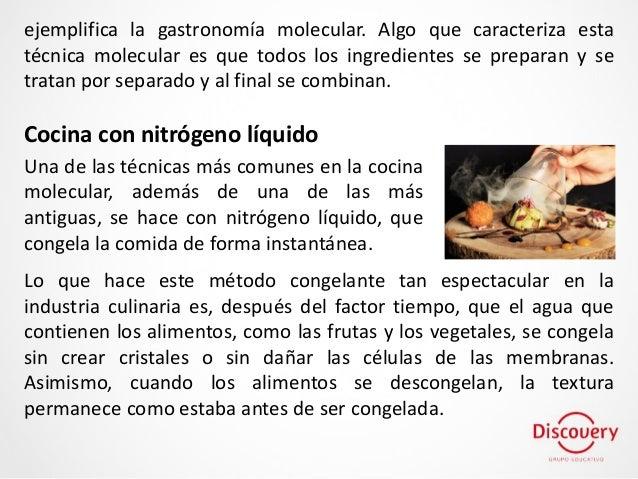 Discovery las siete t cnicas de la cocina molecular m s for Tecnicas de gastronomia molecular