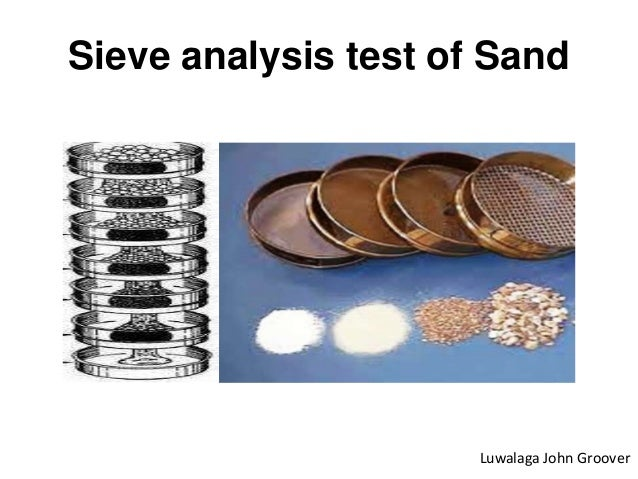 Sieve analysis test of sand (video version check https ...
