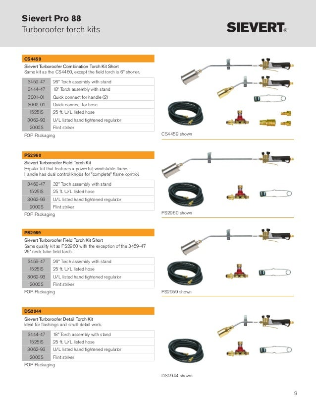 Sievert Heating Tools For LV-HV Cable Jointers - Torch Kits