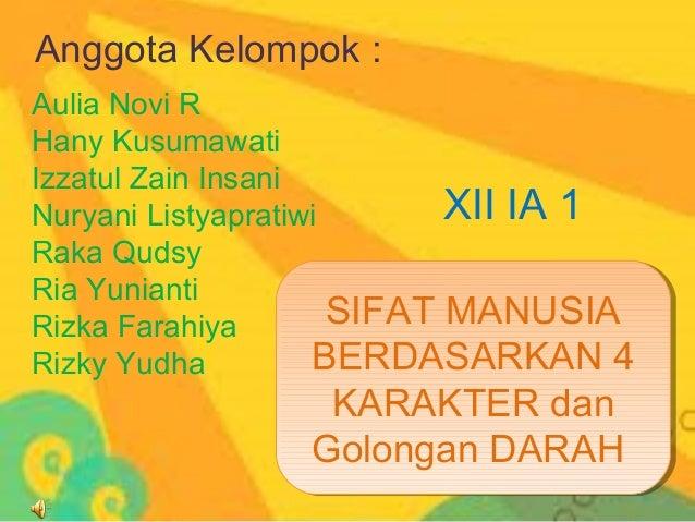 Anggota Kelompok :Aulia Novi RHany KusumawatiIzzatul Zain InsaniNuryani Listyapratiwi       XII IA 1Raka QudsyRia Yunianti...
