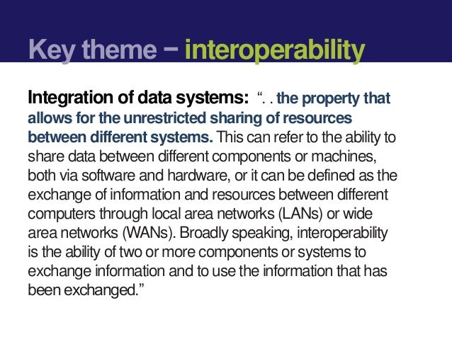 Interoperability & Crowdsourcing: Can these improve the management of ANC programs?  Slide 3