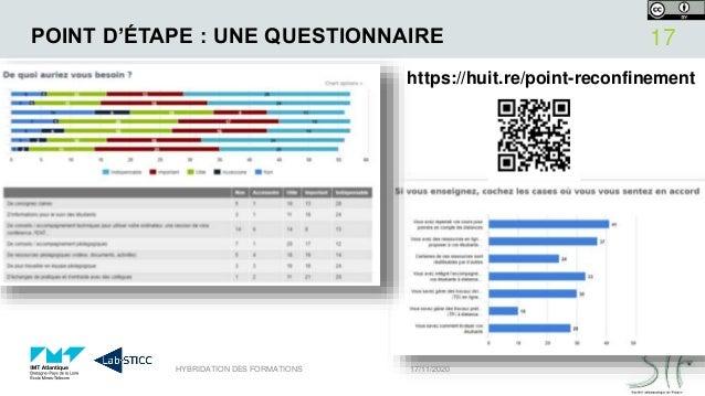POINT D'ÉTAPE : UNE QUESTIONNAIRE 17/11/2020HYBRIDATION DES FORMATIONS 17 https://huit.re/point-reconfinement