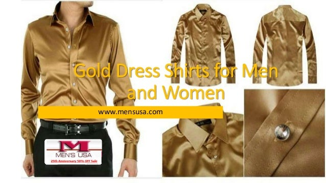 Gold dress shirts for men and women