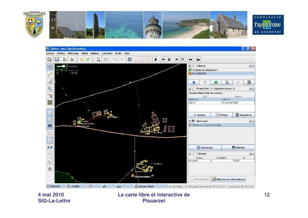 4 mai 2010      La carte libre et interactive de   12 SIG-La-Lettre              Plouarzel